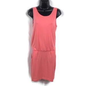 Theory Light Orange Sleeveless Dress